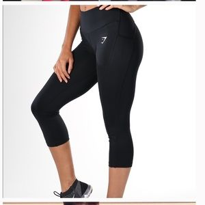 Cropped black sculpture leggings!!